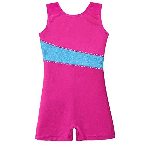 Leotards for Girls Gymnastics Long Sleeve Biketard Red Hot Pink Blue White Polka Dots
