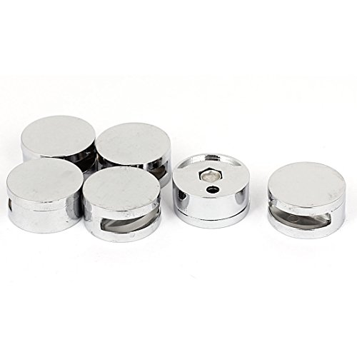 3mm-5mm Thick Glass Round Shaped Zinc Alloy Clips Clamps Holder 6pcs Round Mirror Clip