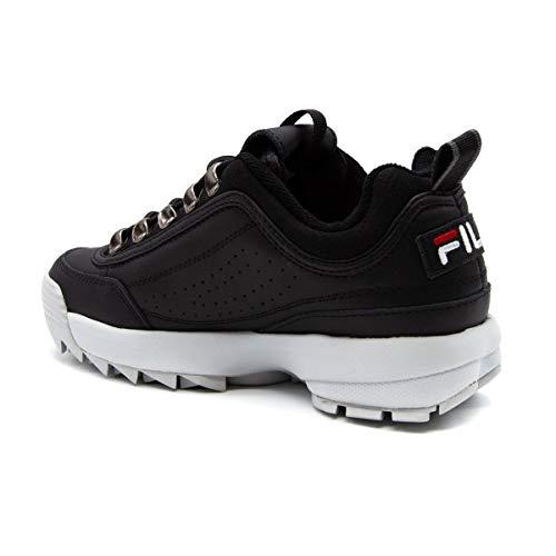 Zapatillas Fila Mujer Cuero 101044325y Negro xBwOnCB