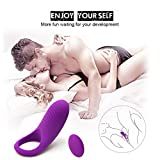 Vibrating Cock Rings Remote Control 9 Frequency Penis Ring & Clitoral G-Spot Vibrators Vibes Stimulators Sex Toys Things for Men - Women and Couples