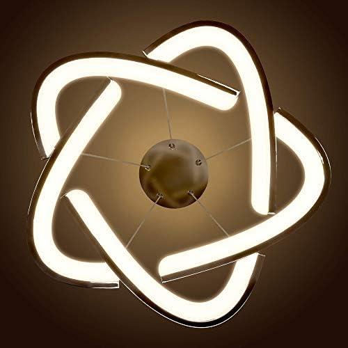 LED Universum: Außergewöhnliche Pendelleuchte Flora: aus verchromtem Aluminium mit opaler Kunststoffabdeckung für homogenes warmweißes Licht, 19 Watt, höhenverstellbar