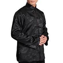 Interact China Chinese Tai Chi Kungfu Reversible Jacket Blazer 100% Silk Brocade