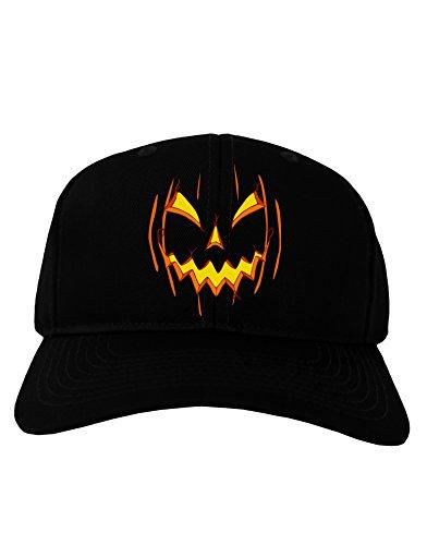 TooLoud Halloween Scary Evil Jack O Lantern Pumpkin Adult Dark Baseball Cap Hat - -
