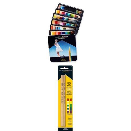 Prismacolor Premier Colored Pencils, Soft Core, 132-Count and Prismacolor Premier Colorless Blender Pencils, 2-Count Bundle
