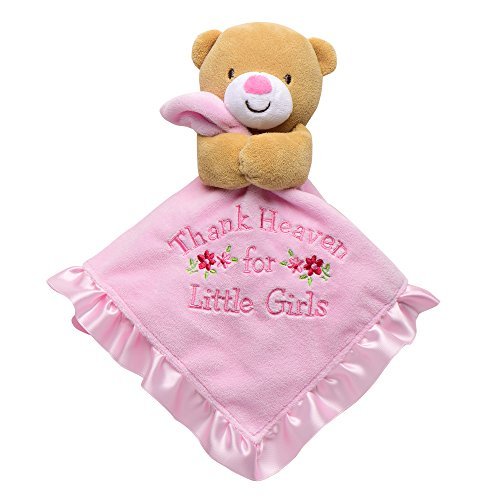 Baby Starters Snuggle Buddy with Blanket & Rattle Thank Heaven for Little Girls Bear, (Snuggle Bear Blanket)