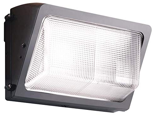 RAB Lighting WP2F42/E1 WP2 Mid Sized CFL Wallpack with Emergency Battery Back Up and Glass Lens, Triple Type, Aluminum, 42W Power, 3200 Lumens, 120V, Bronze Color ()