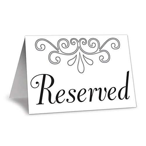 Reserved Table Cards by Century Novelty