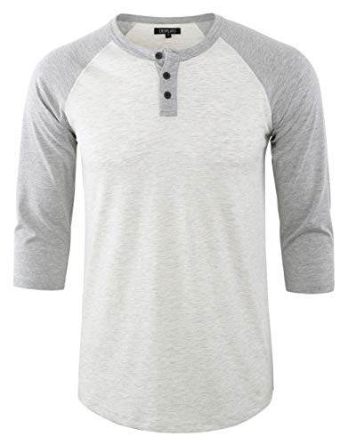 5d6789cb ... DESPLATO Men's Casual Vintage 3/4 Sleeve Henley Baseball Jersey Knit T  Shirts H.