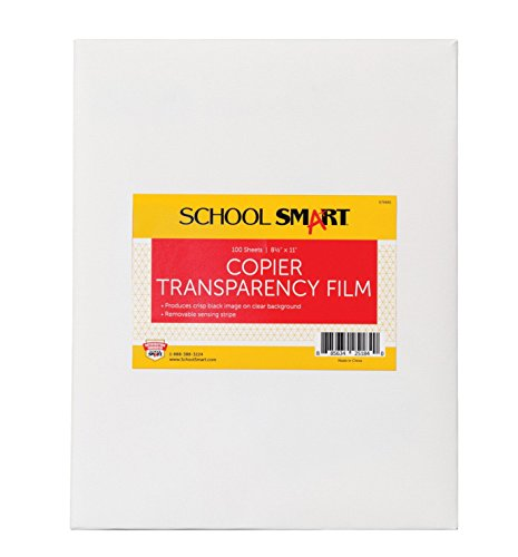 - School Smart Copier Transparency Film, 8-1/2 x 11 Inches, Pack of 100