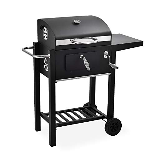 mecor Charcoal Grill Offset Smoker Barbecue Pit Outdoor Backyard Home Meat Cooker with Wheels
