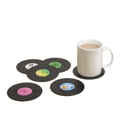 Spinning Hat Retro Vinyl Coasters -