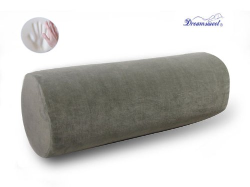 """TWO 20"""" Dreamsweet Memory Foam Large Round Roll Pillow w/ Re"""