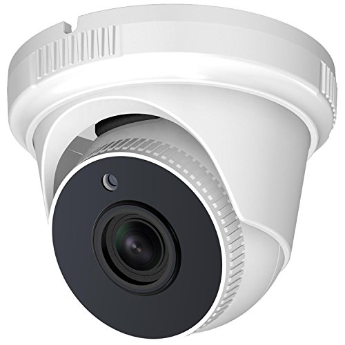 Hykamic Outdoor Dome Security Camera 1080P HD 1920TVL (4-in-1 HD-TVI/CVI/AHD/Analog), 2MP 1920×1080, 65ft Night Vision, 3.6mm Lens 80°viewing angle