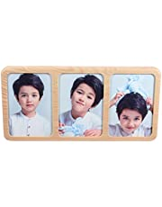 BESPORTBLE 5 Inches Combination Picture Frames Wall Art Photo Frames Table Photo Holder Plant Specimen Display Shelf for Home Office Decoration Yellow