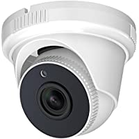 Hykamic Outdoor Dome Security Camera 1080P HD 1920TVL (4-in-1 HD-TVI/CVI/AHD/Analog), 2MP 1920x1080, 65ft Night Vision, 3.6mm Lens 80°viewing angle