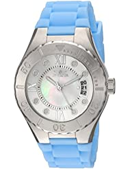 Invicta Womens Angel Quartz Stainless Steel and Silicone Casual Watch, Color:Blue (Model: 19392)
