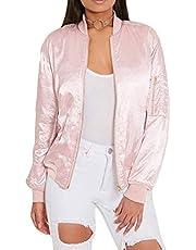 QIYUN.Z Women's Fashion O-Neck Long Sleeve Coat Jacket