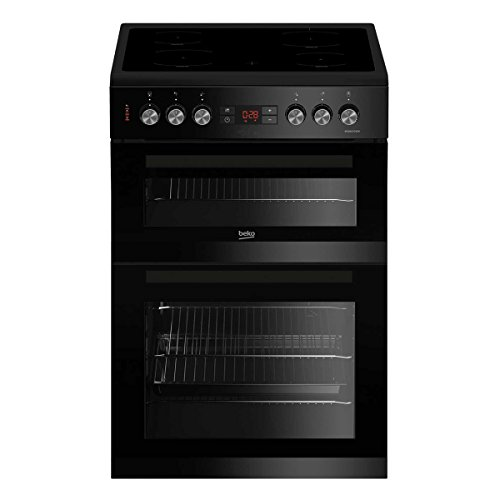 Beko KDC653K 60cm Double Oven Ceramic Cooker in Black with Fully...