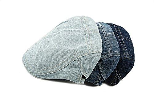 con regolabile chiaro per blu regolabile Acvip berretto Beret Jean visiera Cappello unisex unisex 6n0wzqBp