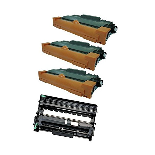 3 TN450 Toner + 1 DR420 drum for Brother MFC-7360 MFC-7460 MFC-7860 DCP-7060(Up to 12,000 Pages at 5% coverage)