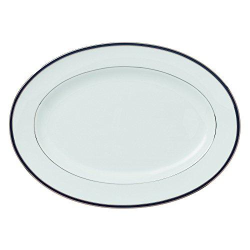 """Royal Doulton Signature Blue Platter, 14"""", White"""