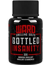 Ward Smelling Salts - Bottled Insanity - Insanely Strong Ammonia Inhalant | Smelling Salt for Powerlifting Hockey Football and More