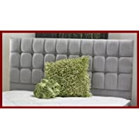 "4'0"" Junior Double Bed Torino Chenille Headboard With Button Detail (Beige)"