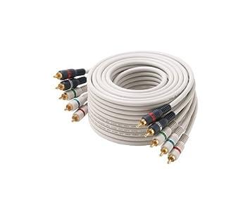 Steren 254-606IV 1.83m 5 x RCA Marfil componente (YPbPr) cable de