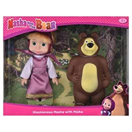 Simba Masha and The Bear – Mischevious Masha with Misha (Multicolor) by Fratelli
