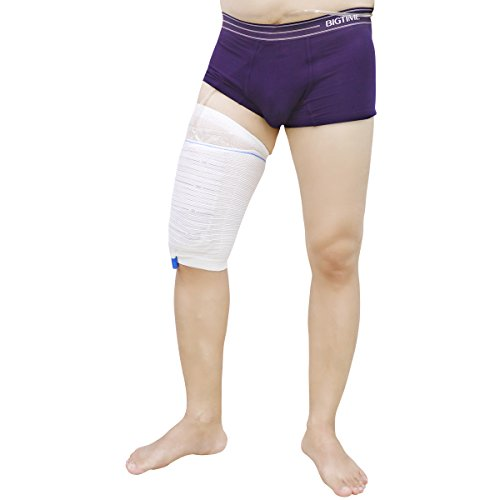 - Fabric Catheters Sleeve Urine Leg Bag Holder- Stay in Place Drainage Straps and Holders for Incontinence Wheelchairs Supporting, 2 Pack (M)
