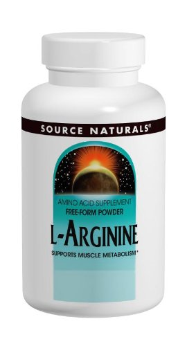 Source Naturals L Arginine 1000mg Free Form, Promotes Increased Circulation, 200 Tablets