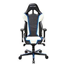 DXRacer Racing Series DOH/RH110/NWB Newedge Edition Racing Bucket Seat Office Chair Gaming Chair Ergonomic Computer Chair Esports Desk Chair Executive Chair Furniture With Pillows(Black White Blue)