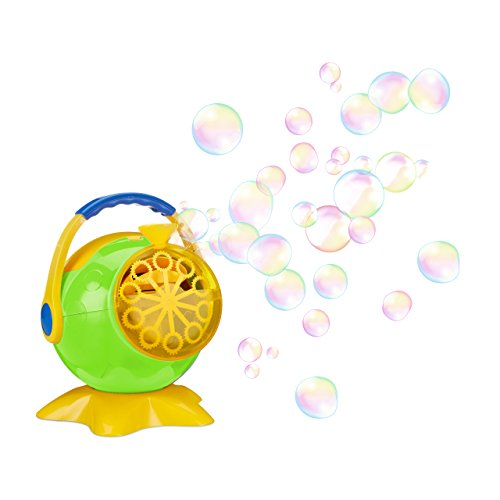 Relaxdays Soap Bubble Machine, Propeller Design, Automatic, For Birthdays and Weddings, Green (Propeller Bubble)