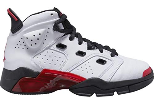 Jordan Boys' Big Kids 6-17-23 (GS) 428818-100 White Gym-Red Black (6Y) (Red And Black 23 Jordans)