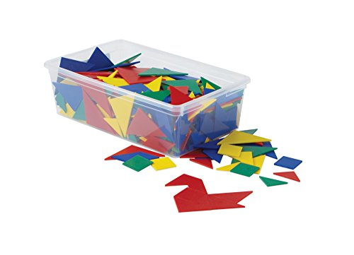 (hand2mind Plastic Tangrams, Manipulative Set for Math Puzzles (Pack of 32))
