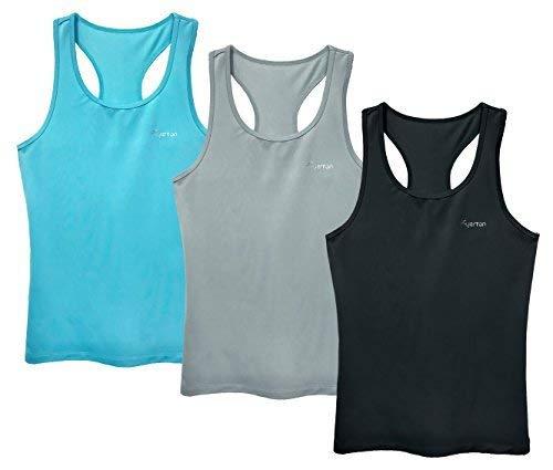 903a7e503e46e1 Tuerton Activewear Running Workout Clothes Exercise Yoga Racerback Tank  Tops for Women(3-Pack