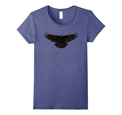 Womens Halloween Crow Costume Idea T-Shirt Small Heather Blue