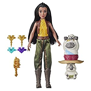Disney's Raya and The Last Dragon Strength and Style Set Fashion Doll, Hair Twisting Tool, Hair Clips, Toy for 5 Year Old Kids and Up