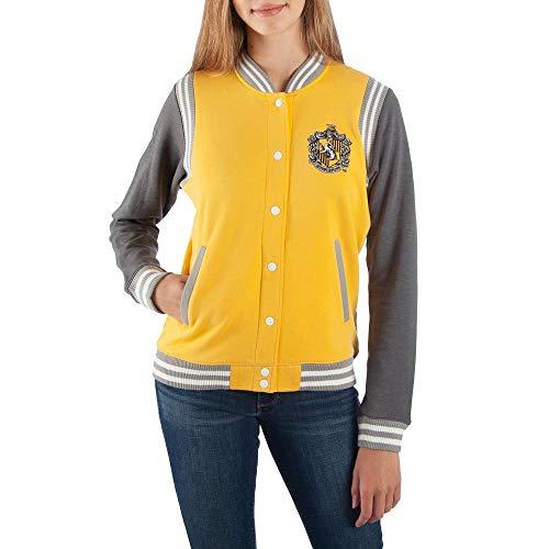 Harry Potter Hufflepuff Varsity Jacket For Women-XX-Large from Bioworld