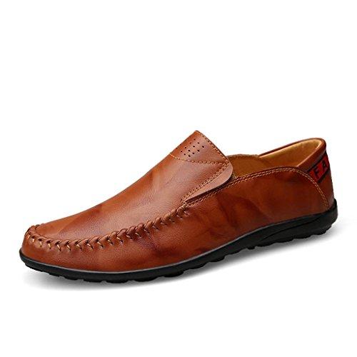 M De ConduccióN De amp;M De Pedal Business Zapatos Hombre Lazy Casual Zapatos Cuero Zapatos Brown Shoes rggxH