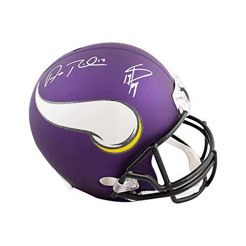8a7f1ca96da Stefon Diggs Adam Thielen Autographed Vikings Full-Size Football Helmet -  JSA