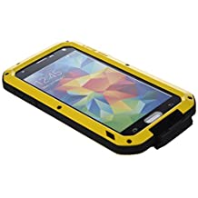 LOVE MEI Aluminum Metal Gorilla Shock Waterproof Case Cover for Samsung Galaxy S5 I9600 Yellow