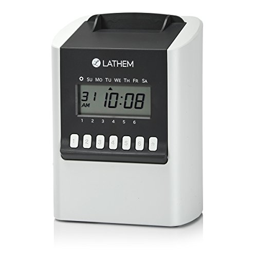 Lathem 700E Calculating Electronic Time Clock, Requires Lathem E17 Time Cards (Sold ()