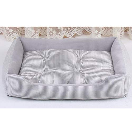 The fairy Extra Large Pet Bed Sofas for Cat Dogs Husky Bulldog Removable Sleeping Cushion Mattress Take Out Small Large Dog House,Grey,L 70X50X15Cm