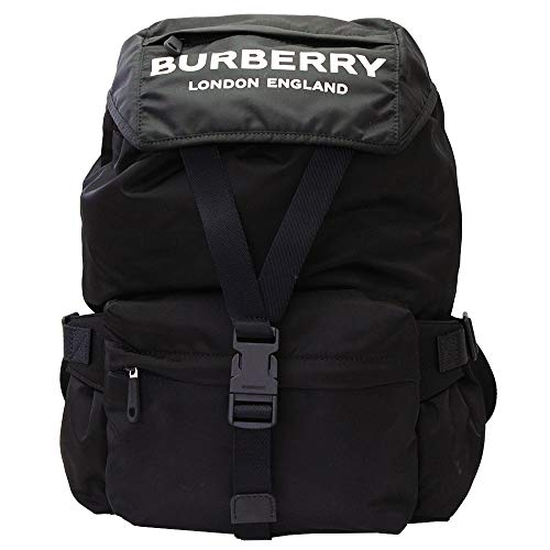 Burberry Black Nylon With Logos Backpack 8014130
