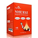 Nose Wax, Lifestance Nose Hair Removal Wax Kit Microwavable Home Use Hard Wax for Men and Women 60grams