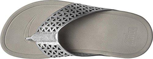 Lattice Fitflop Surfa Mujer Leather Silver Sandalias 7qAx5g