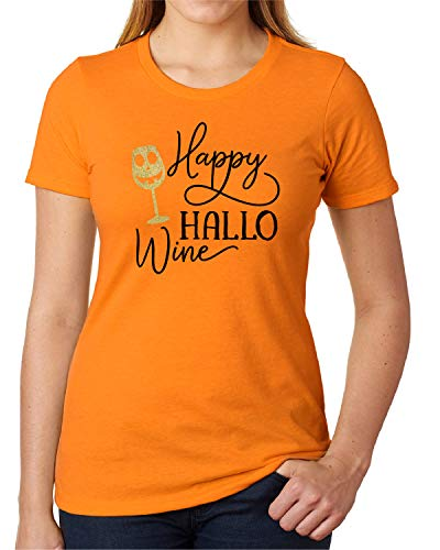 Happy Halloween T-shirt For Women Wine Lovers Gift Funny Shirt -