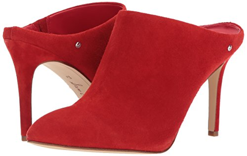 Oran Sam Candy Edelman Suede Women's Mule Red 115fwrq