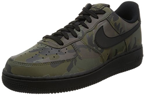 Nike Mens Air Force 1 '07 LV8 Reflective CAMO Shoes Medium Olive/Black 718152-203 Size 8.5